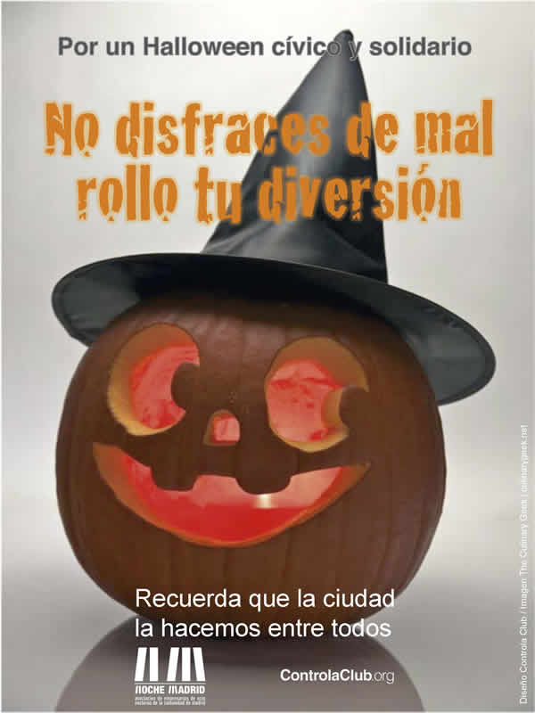 Cartel Halloween Comunidad de Madrid